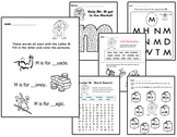 Original Letter People Worksheets Vol 4 - Letter Recogniti