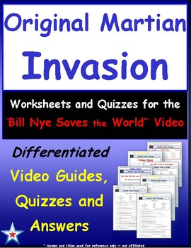 "Differentiated Video Guide, Quiz & Ans. for ""Original Martian Invasion *"""