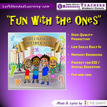 "Original Multiplication Songs - ""Fun with the Ones"" includes Life Skills too!"
