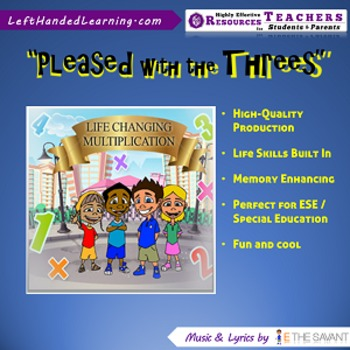 """Original Multiplication Songs - """"Pleased with the Threes"""" for ESE + Life Skills"""
