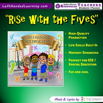 "Original Multiplication Songs - ""Rise with the Fives"" great for ESE Students"