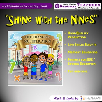 """Original Multiplication Songs - """"Shine with the Nines"""" for ESE + Life Skills"""