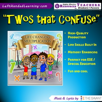 """Original Multiplication Songs - """"Twos that Confuse"""" great"""