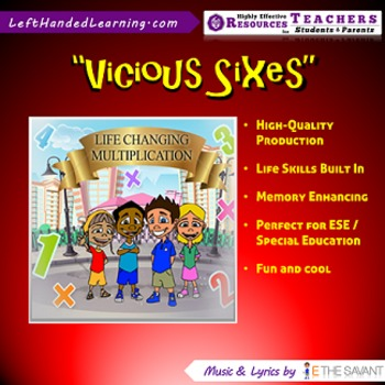"""Original Multiplication Songs - """"Vicious Sixes"""" for ESE + Life Skills"""