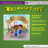 """Original Multiplication Songs - """"Wars with the Fours"""" for ESE + Life Skills"""