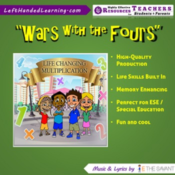 "Original Multiplication Songs - ""Wars with the Fours"" for ESE + Life Skills"