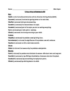 how to outline a speech