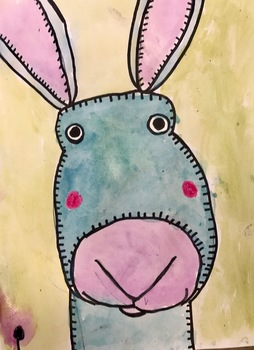 Bunny Rabbit Art (Drawing+Painting) w/ Video Link! Perfect for Spring+Easter!