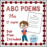 Poems 43 Original Poems; with center lesson plans and sub plan