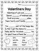 Valentine's Day Poem Cloze Activity and MiniBook - English