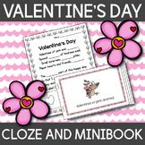 Valentine's Day Poem Cloze Activity and MiniBook - English