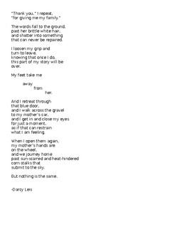 Original Sample Narrative Poem