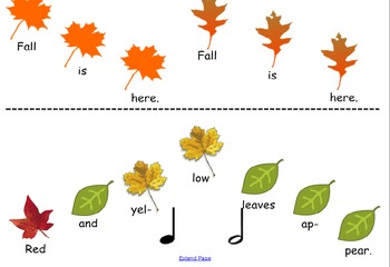 Original Song and Orff Arrangement: Fall Is Here