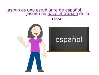 Original TPR Story for early Spanish I - Jasmin, la mala estudiante