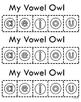 Vowel Owl Illustration & Coloring Page