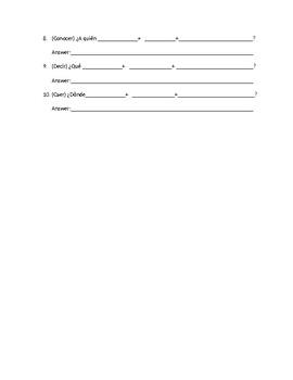 Original questions with irregular yo verbs