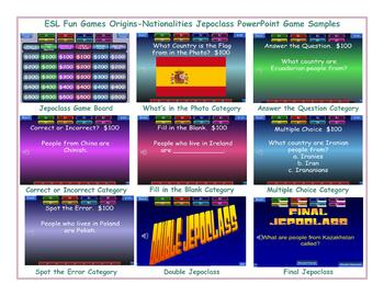 Origins-Nationalities Jeopardy PowerPoint Game