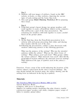 Origins of Written Communication-Unit Study