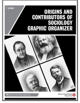 Origins and Contributors of Sociology Graphic Organizer