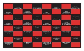 Origins and Nationalities Spanish Checkers Board Game