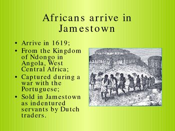 Origins of African Slavery in British North America