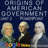 Origins of American Government PowerPoint w/Video clips & Presenter Notes