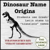 Origins of Dinosaur Names