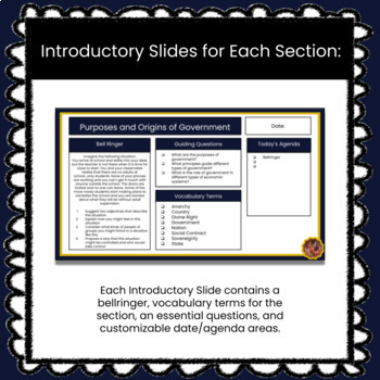 Origins of Government PowerPoint and Interactive Guided Notes