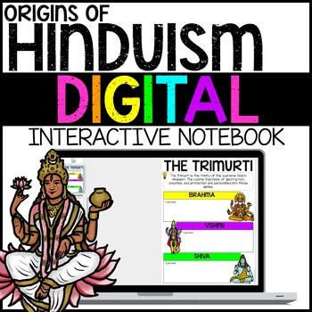 Origins of Hinduism Digital Interactive Notebook for Google Drive