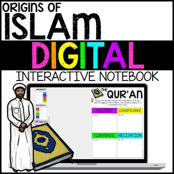 Origins of Islam Digital Interactive Notebook for Google Drive