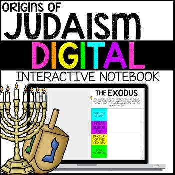Origins of Judaism Digital Interactive Notebook for Google Drive