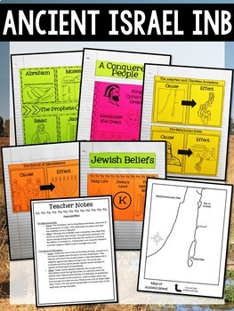 Origins of Judaism Interactive Notebook and Task Cards Bundle