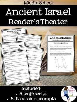 Ancient Israel Interactive Notebook, Task Cards and Reader's Theater Bundle