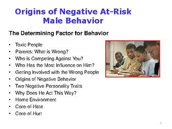 Origins of Negative At-Risk Male Behavior