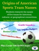Origins of American Sports Team Names - Geography & History Research Project