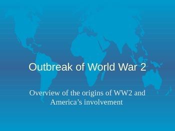 Origins of World War 2 and America's Involvement