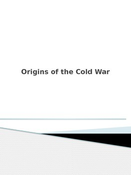 US History Powerpoint (Origins of the Cold War)