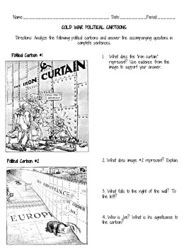 Origins of the Cold War Political Cartoon Analysis