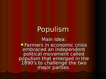 Origins of the Populist Movement in the U.S.