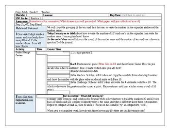 Origo Grade 2 Stepping Stones Module 1, Lessons 1-12 Lesson Plans