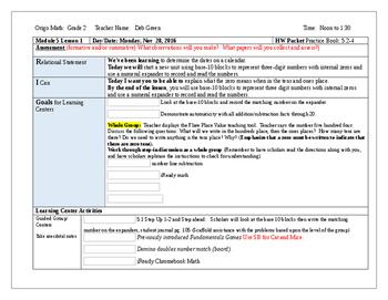 Origo Grade 2 Stepping Stones Module 5, Lessons 1-12 Editable Lesson Plans