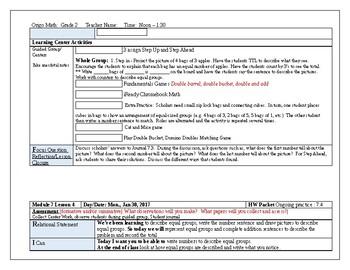 Origo Grade 2 Stepping Stones Module 7, Lessons 1-12 Editable Lesson Plans