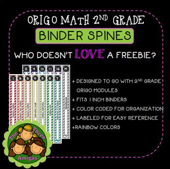 origo math 1 inch binder spines free by the three amigas tpt