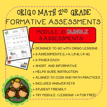 Origo Math 2nd Grade Module 10 Formative Assessment BUNDLE