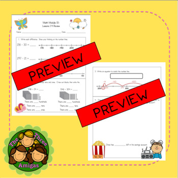 Origo Math 2nd Grade Module 10 Lessons 1-4 Formative Assessment