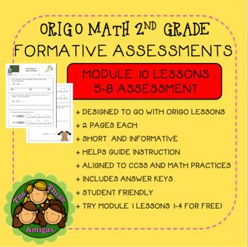 Origo Math 2nd Grade Module 10 Lessons 5-8 Formative Assessment