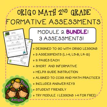 Origo Math 2nd Grade Module 2 Formative Assessment BUNDLE
