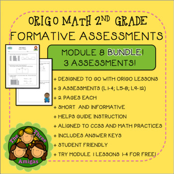 Origo Math 2nd Grade Module 8 Formative Assessment BUNDLE