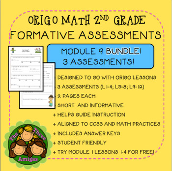 Origo Math 2nd Grade Module 9 Formative Assessment BUNDLE