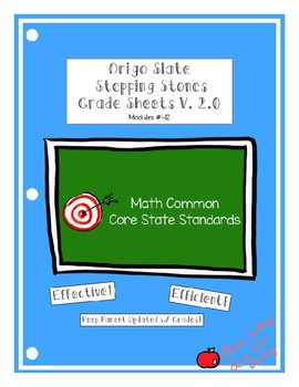 Origo Slate Stepping Stones Grade 3 Module 1-12 Grade Sheets Version 2.0